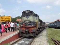 Arrivée du train à Mysore Junction
