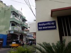 La fameuse rue Montorsier à Pondichéry