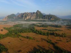 Vu du haut de Vang Vieng
